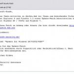 gefälschte Mail mit link zum eigentlichen Virus