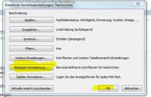 Dialog Outlook 2010 Regeln einstellen
