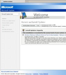 gefakte Windows Update Seite