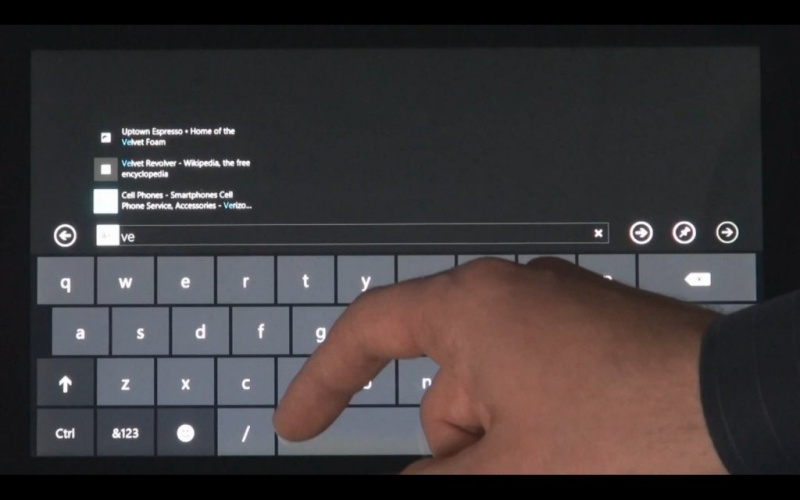 Windows 8 virtuelle Tastatur