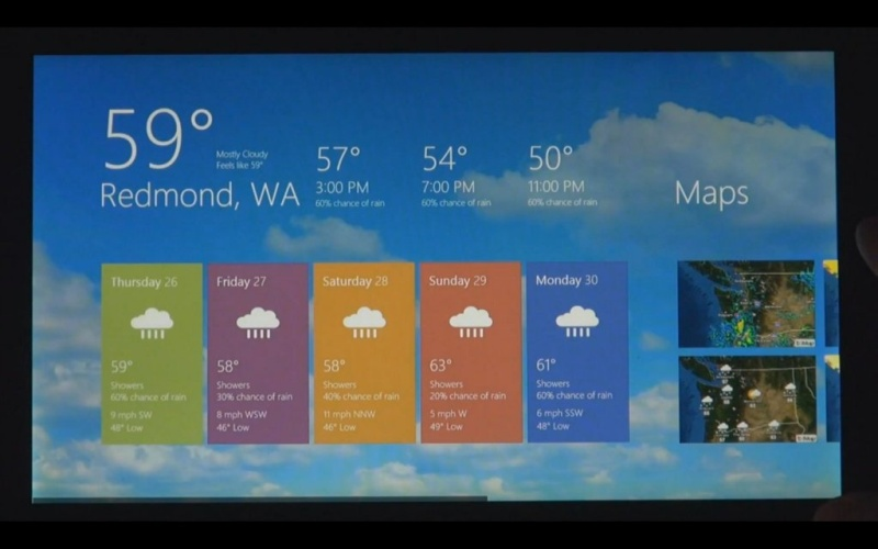 Windows 8 Wetter app