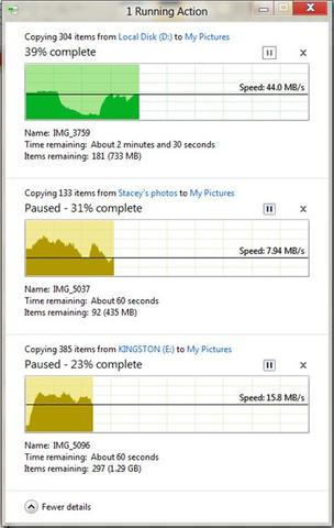 Windows 8 mit neuer Geschwindigkeitsanzeige
