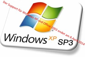 Windows XP Support Ende