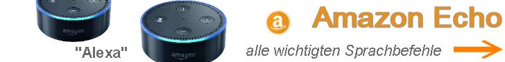 Amazon Echo -Alexa alle Sprachbefehe