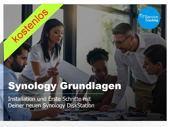 Synology Einsteiger Kurs for free